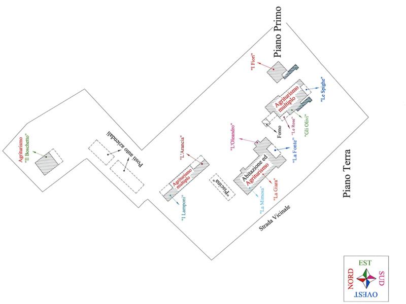 planimetria struttura appartamenti vacanze castiglione della pescaia